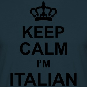 keep_calm_I'm_italian_g1  Aprons - Men's T-Shirt
