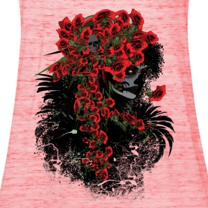 Sugar skull girl Women's T-shirt with rolled up sl - Women's Tank Top by Bella