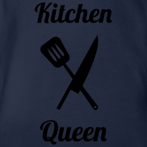 Kitchen Queen Shirts - Baby bio-rompertje met korte mouwen