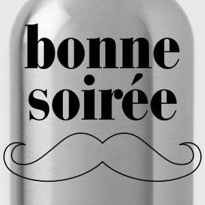 Bonne Soiree - Moustache T-Shirts - Water Bottle