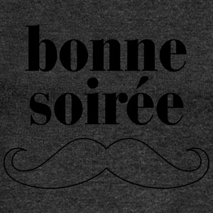Bonne Soiree - Moustache T-Shirts - Women's Boat Neck Long Sleeve Top