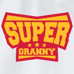 Super Granny Grandma Hero Logo T-Shirts - Drawstring Bag
