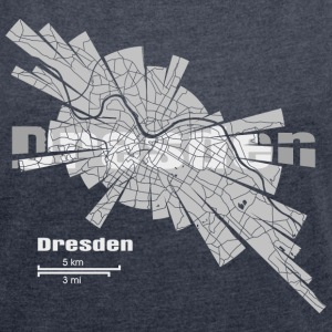 Dresden Map Hoodies & Sweatshirts - Women's T-shirt with rolled up sleeves