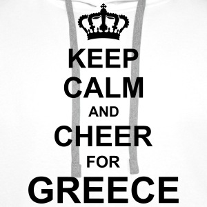 keep_calm_and_cheer_for_greece_g1 T-Shirts - Men's Premium Hoodie