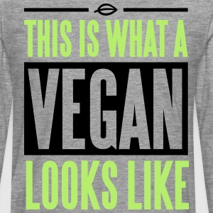 This is what a vegan looks like Tee shirts - T-shirt manches longues Premium Homme