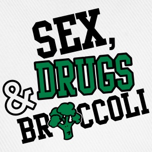 Sex, Drugs & Broccoli Camisetas - Gorra béisbol