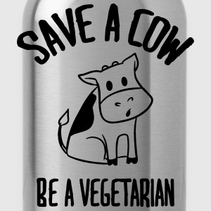 Save a cow, be a vegetarian. Magliette - Borraccia