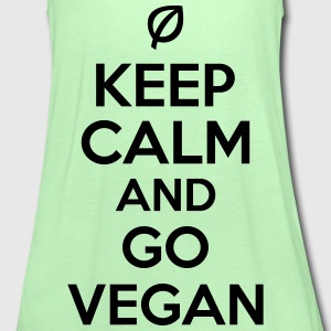 Keep calm and go vegan T-shirts - Tanktopp dam från Bella