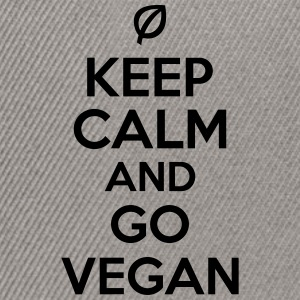 Keep calm and go vegan Magliette - Snapback Cap