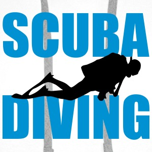Scuba Diving T-skjorter - Premium hettegenser for menn