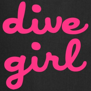 dive girl Camisetas - Delantal de cocina