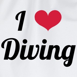 I Love Diving T-shirts - Gymtas