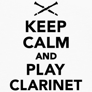 Keep calm and play Clarinet Flaschen & Tassen - Männer Premium Langarmshirt