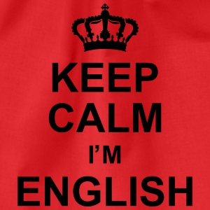 keep_calm_I'm_english_g1 Tee shirts - Sac de sport léger