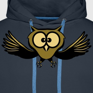 OWL fly wings spread funny T-Shirts - Men's Premium Hoodie