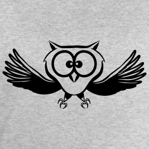 OWL fly wings spread funny T-Shirts - Men's Sweatshirt by Stanley & Stella