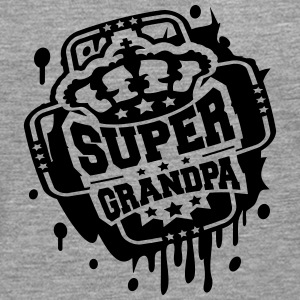 Royal Crown graffiti stämpel Super morfar T-shirts - Långärmad premium-T-shirt herr