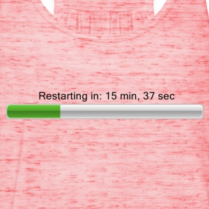 Restarting in ... - Loading bar T-shirts - Dame tanktop fra Bella