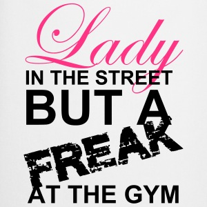 Lady in the street But A Freak At The Gym - Cooking Apron