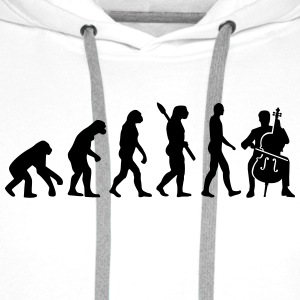 Evolution Cello T-Shirts - Männer Premium Hoodie