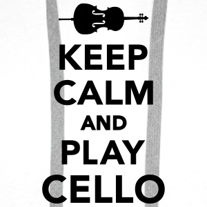Keep calm and play Cello Flaschen & Tassen - Männer Premium Hoodie