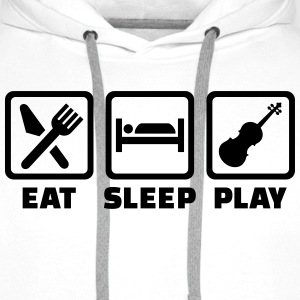Eat sleep Geige T-Shirts - Männer Premium Hoodie