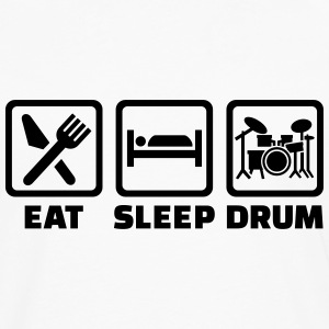 Eat sleep drum T-Shirts - Männer Premium Langarmshirt
