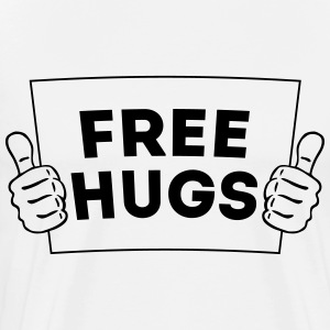 FREE HUGS! Thumbs Up Sign 2C Long sleeve shirts - Men's Premium T-Shirt