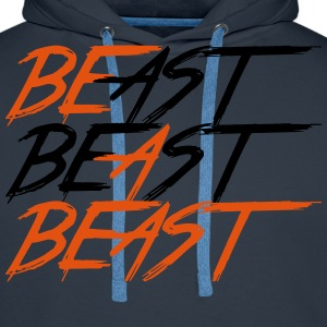 Be A Beast - Bodybuilding, Fitness, Crossfit  - Mannen Premium hoodie