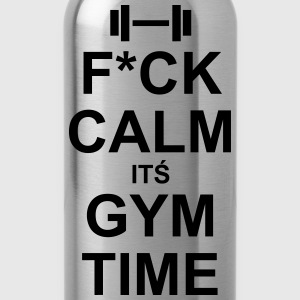 Fuck Calm It´s Gym Time - Drinkfles