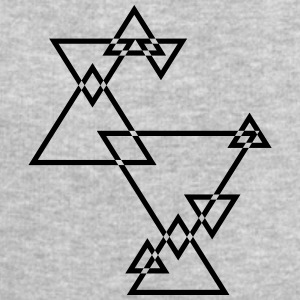 Cool Hipster Triangle Logo Design T-Shirts - Men's Sweatshirt by Stanley & Stella