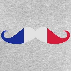 Moustache, French flag T-Shirts - Men's Sweatshirt by Stanley & Stella