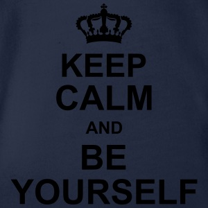 keep_calm_and_be_yourself_g1 Shirts - Organic Short-sleeved Baby Bodysuit