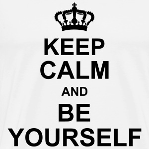 keep_calm_and_be_yourself_g1 Schürzen - Männer Premium T-Shirt
