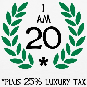 25 - 20 plus tax Pikétröjor - Premium-T-shirt herr