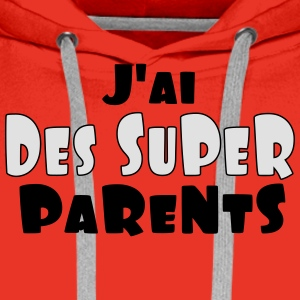 SUPER PARENTS - Sweat-shirt à capuche Premium pour hommes