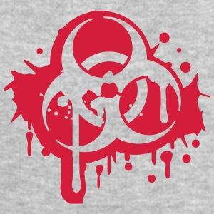 Biohazard logo symbol splashes of blood T-Shirts - Men's Sweatshirt by Stanley & Stella