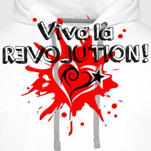 Viva la REVOLUTION, LOVE, Star, Heart, Splash,  T-Shirts - Men's Premium Hoodie