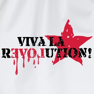Viva la REVOLUTION, LOVE, Star, Anarchy, Punk Magliette - Sacca sportiva