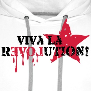 Viva la REVOLUTION, LOVE, Star, Anarchy, Punk Tee shirts - Sweat-shirt à capuche Premium pour hommes