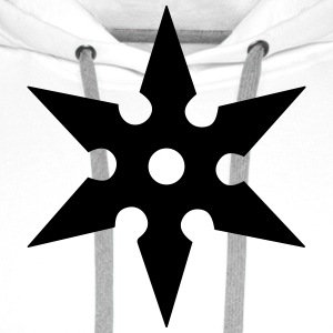 Shuriken Throwing Star, Ninja, Japan, Martial Arts T-Shirts - Men's Premium Hoodie
