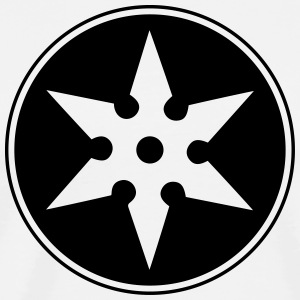 Shuriken, Ninja, Star, Fight, Japan, Martial Arts Långärmade T-shirts - Premium-T-shirt herr
