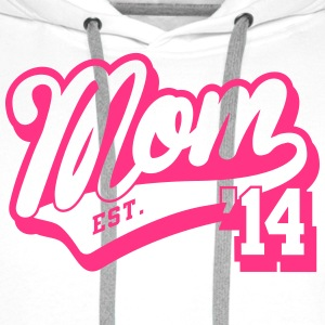 Mom established 2014 Tops - Männer Premium Hoodie