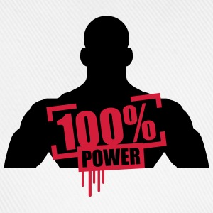 100% power muskler bodybuilder skarp T-shirts - Basebollkeps
