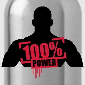 100% power muskler bodybuilder skarp T-shirts - Vattenflaska