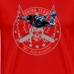 Union Team Mr. Adrenalin Skydive Shirts met lange mouwen - Mannen Premium T-shirt