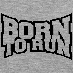 Cool Logo Born to Run Design T-Shirts - Men's Premium Longsleeve Shirt