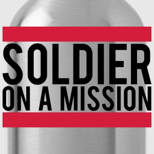 Soldier on a Mission logo T-Shirts - Water Bottle