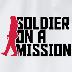 Soldier on a Mission Cool Design logo T-Shirts - Drawstring Bag