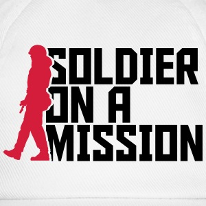 Soldier on a Mission Cool Design logo T-Shirts - Baseball Cap